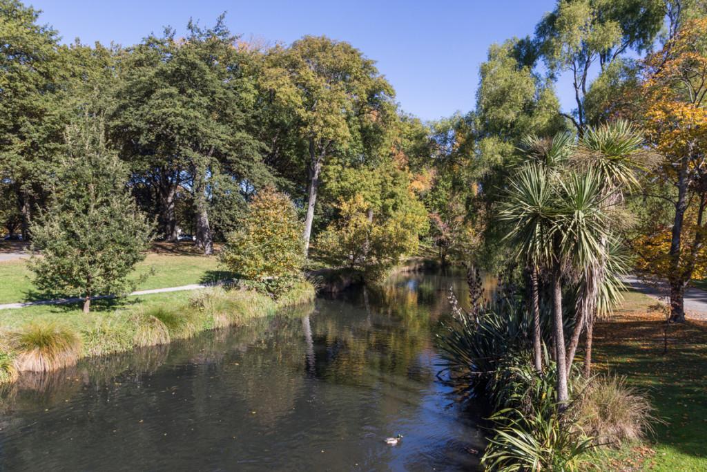 In den botanischen Gärten von Christchurch