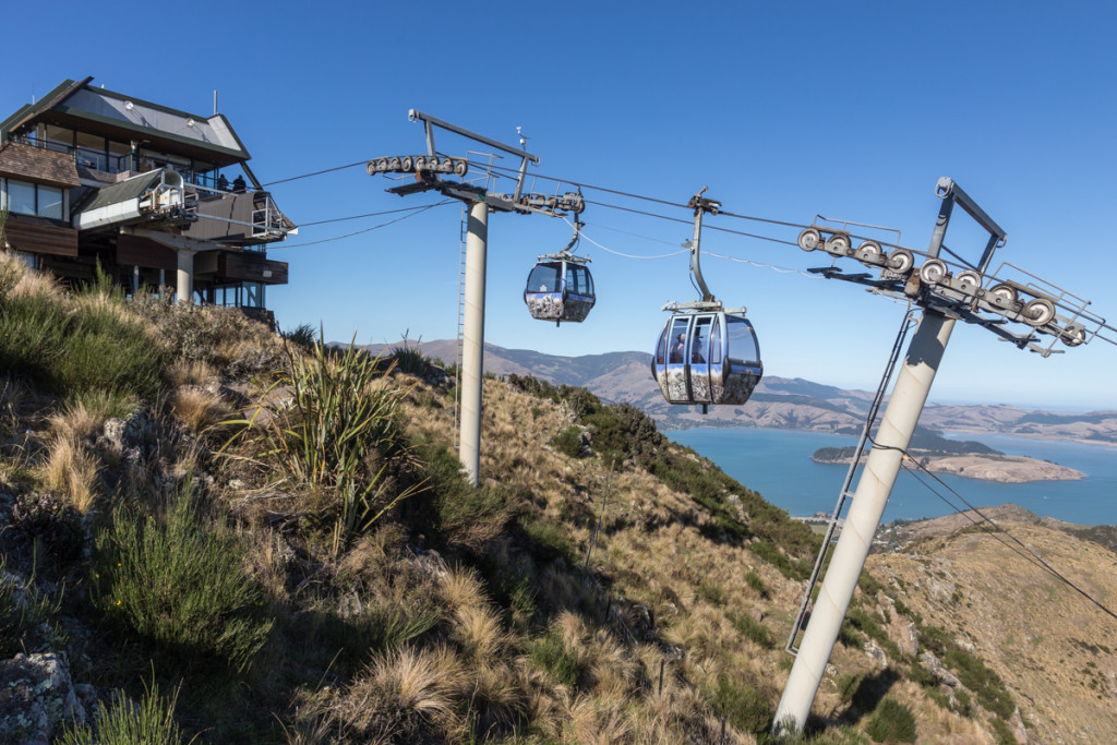 Christchurch Gondola mit Blick auf Lyttelton
