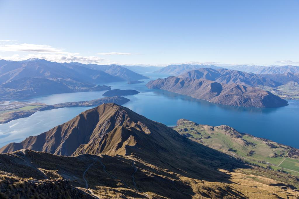 Aussicht vom Roy's Peak auf den Lake Wanaka