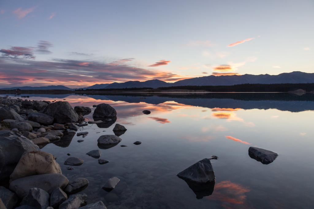 Sonnenuntergang am Lake Pukaki