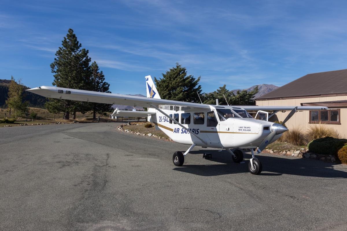 Flugplatz in Lake Tekapo in Neuseeland