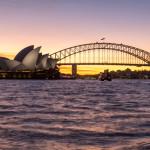 Der lange Weg zum Sonnenuntergang in Sydney