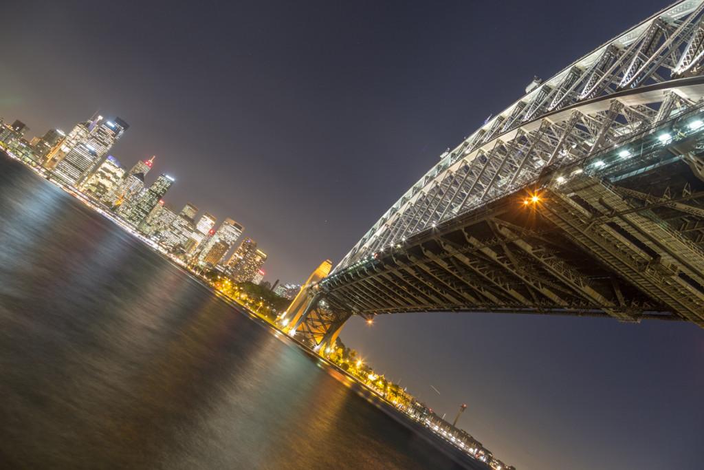Beleuchtete Sydney Harbour Bridge