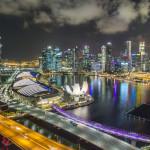 Sentosa Island & Vogelperspektive auf dem Singapore Flyer