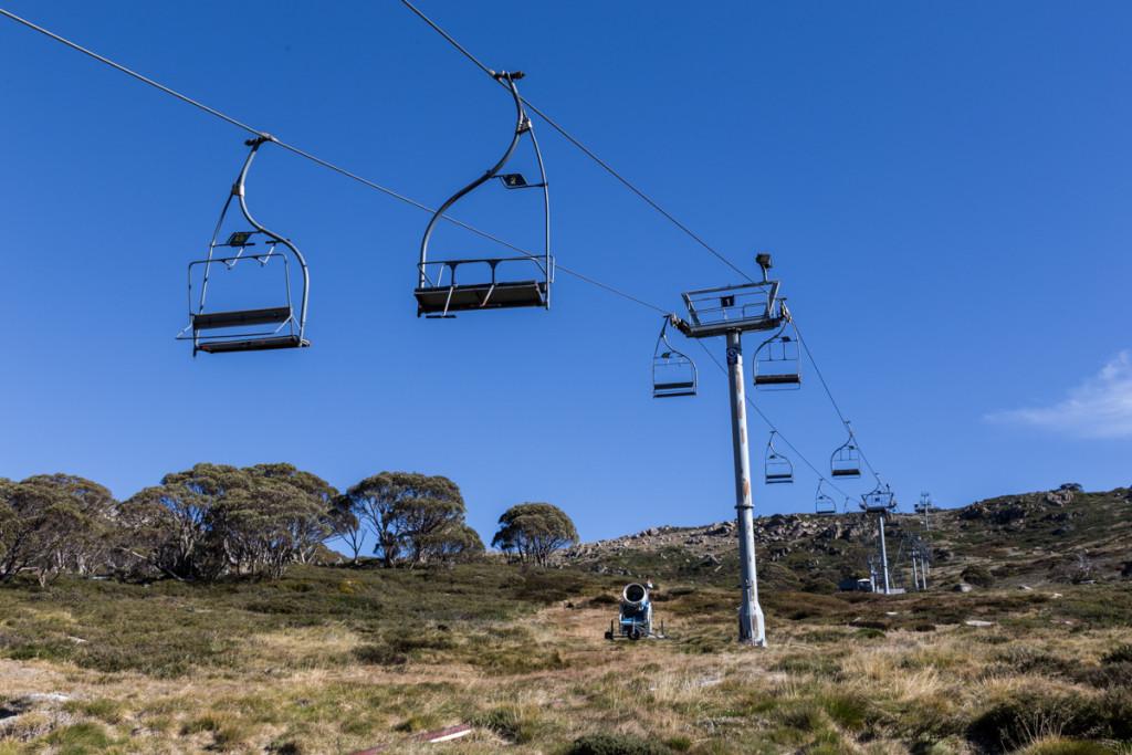 Sesselbahn im Skigebiet am Charlotte Pass