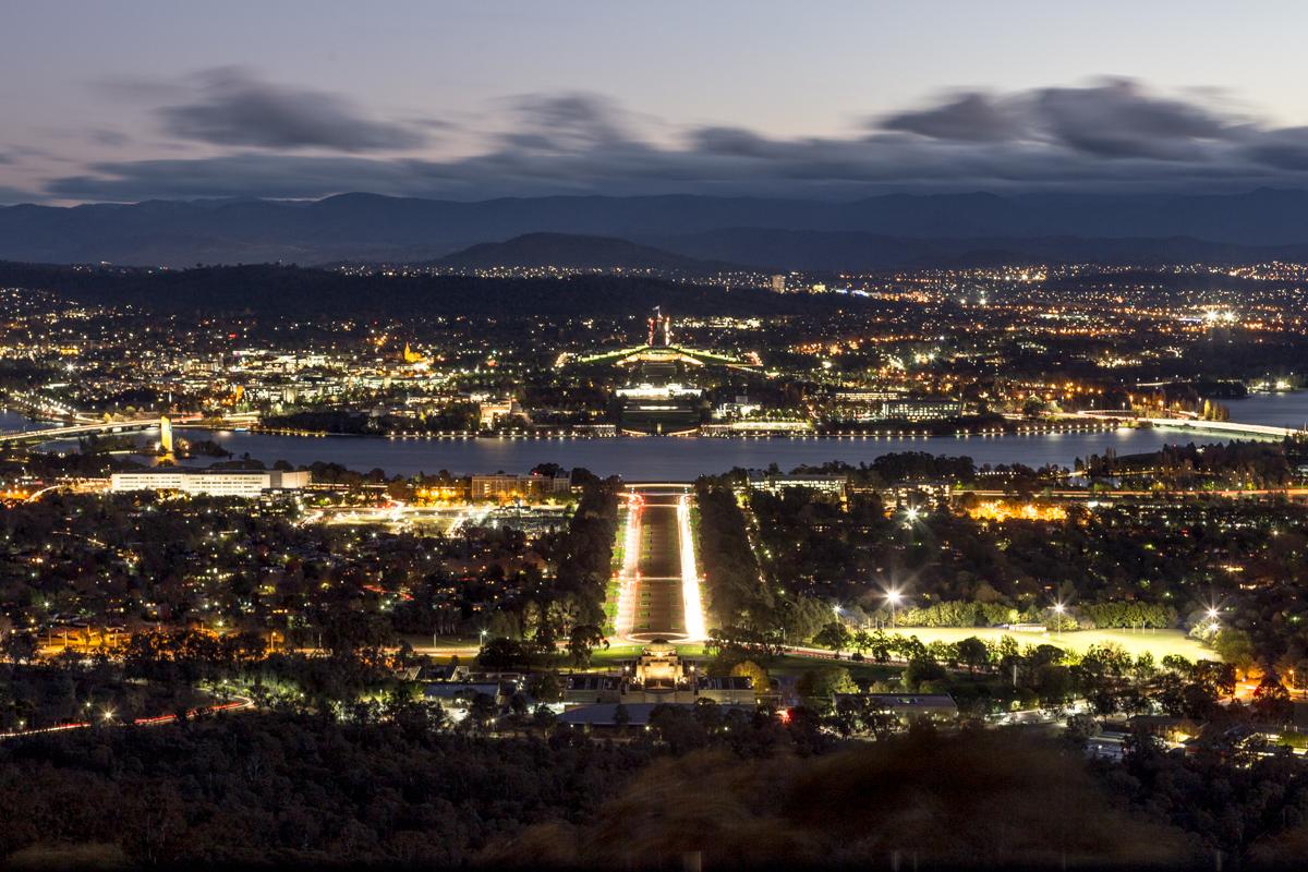Blick vom Mount Ainslie auf Canberra