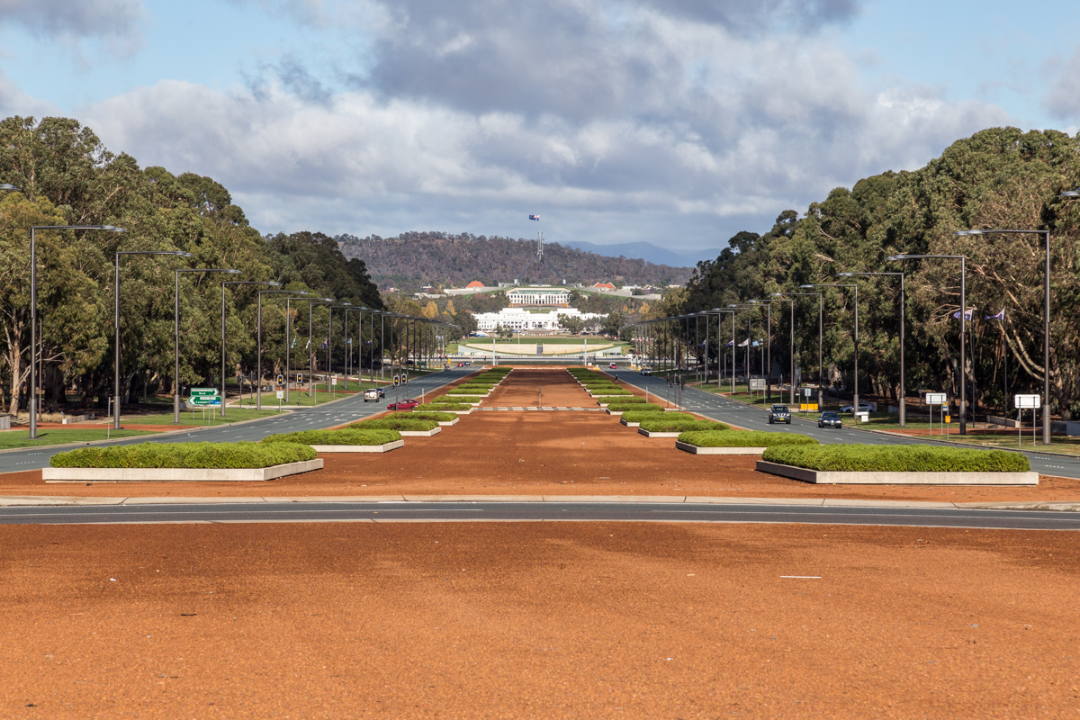 Anzac Parade in Canberra