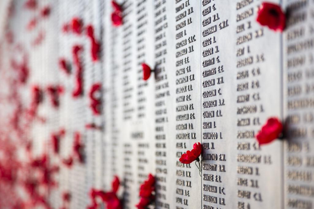 Gedenktafel im Australian War Memorial in Canberra