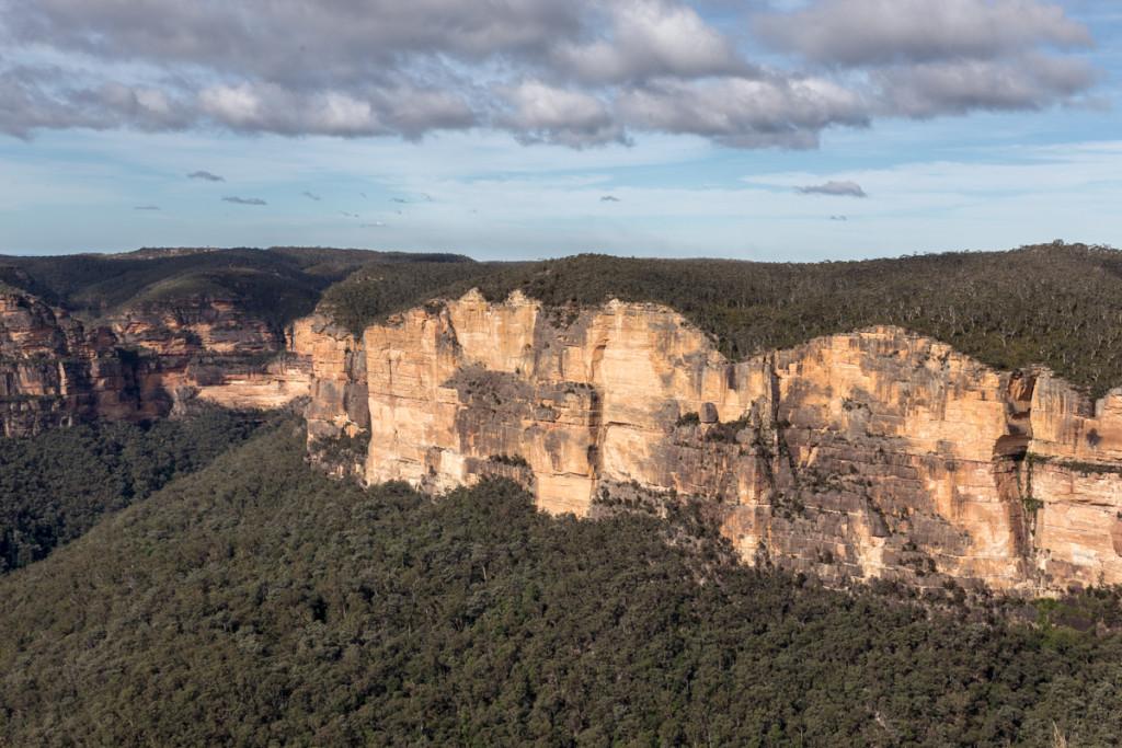 Schroffe Felsen des australischen Grand Canyons