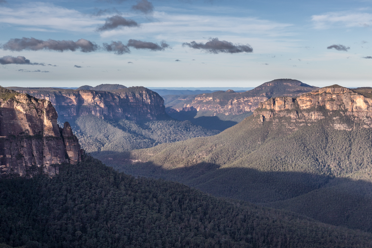 Ausblick vom Govettes Leap Lookout auf den Blue Mountains National Park