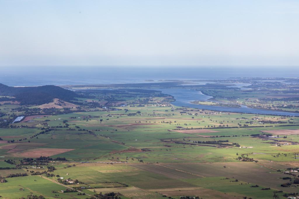 Ausblick vom Cambewarra Lookout auf die Küste