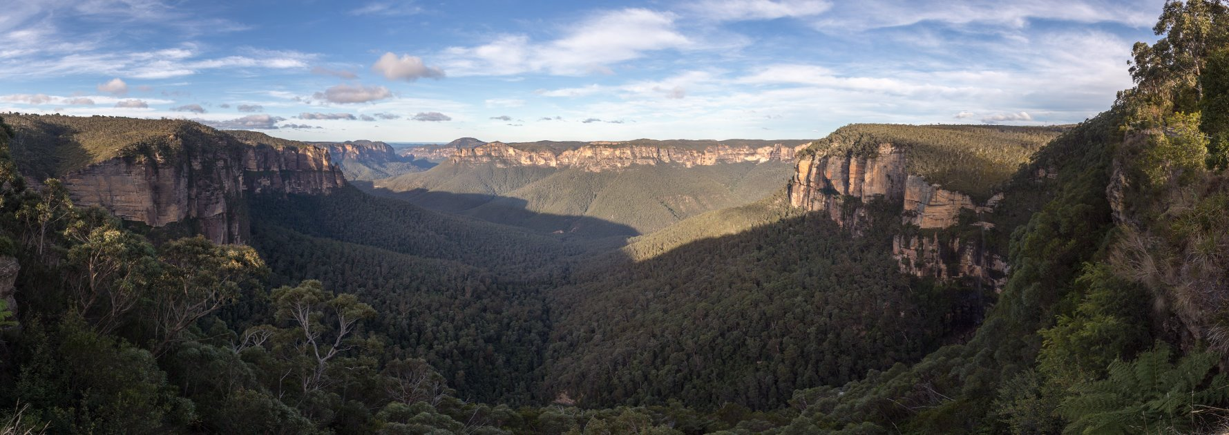 Panoramaaufnahme in den Blue Mountains in Australien