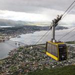 Mit der Luftseilbahn Fjellheisen auf den Hausberg von Tromsø