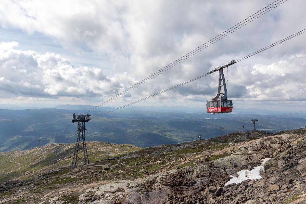 Seilbahn-Rallye durch das Skigebiet von Åre