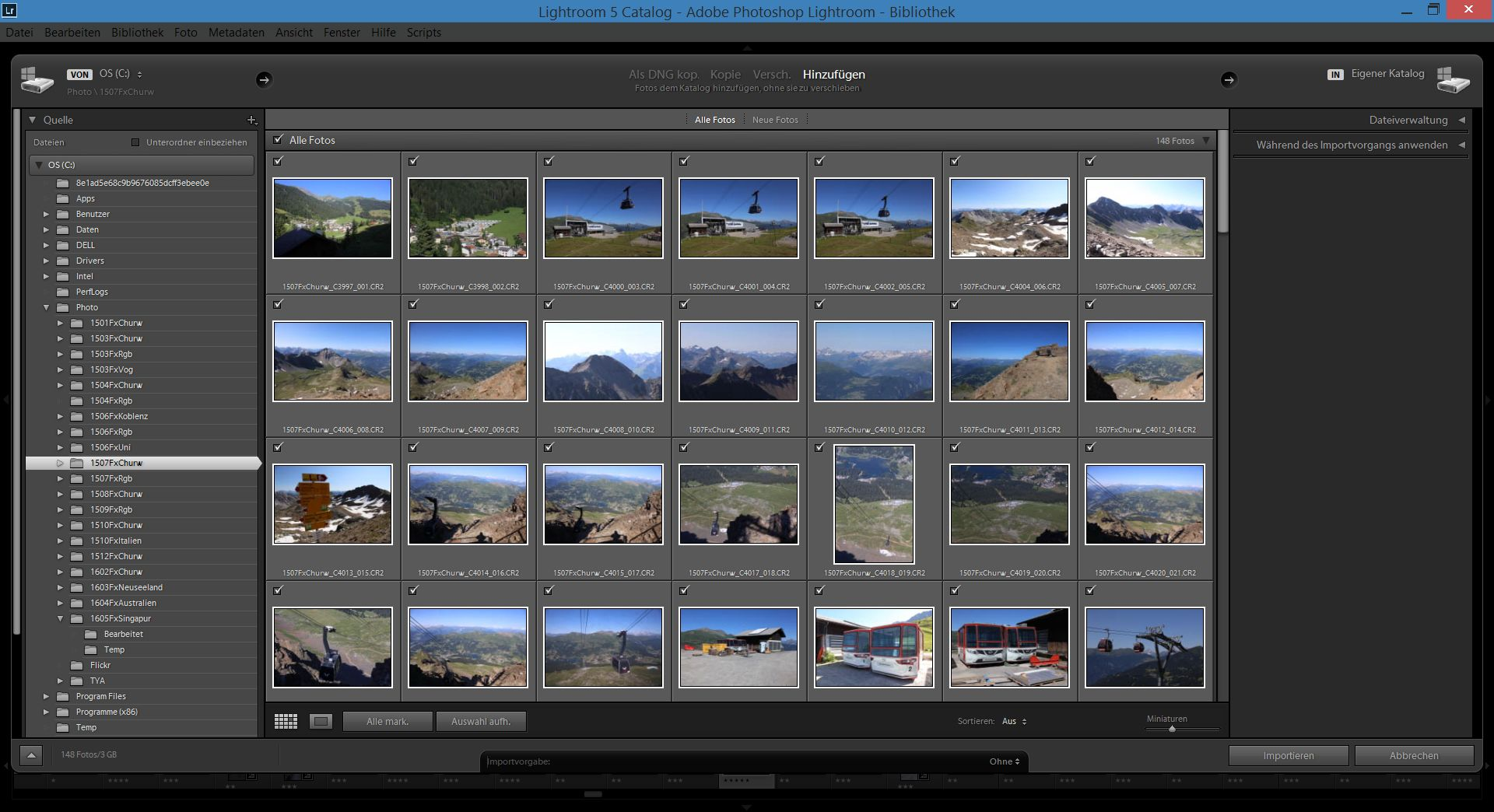 Lightroom - Import