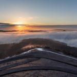 Sonne tanken auf der Bergehalde Göttelborn