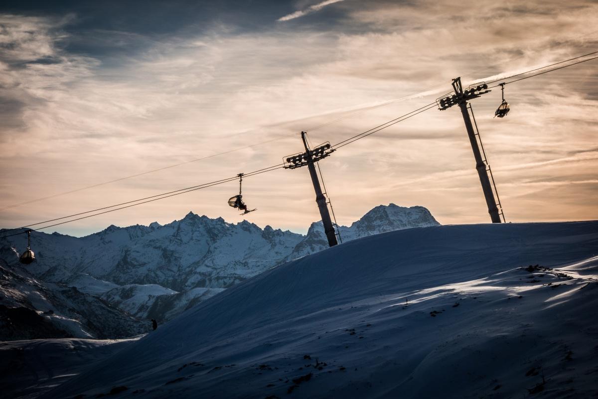 Sesselbahn in St. Moritz