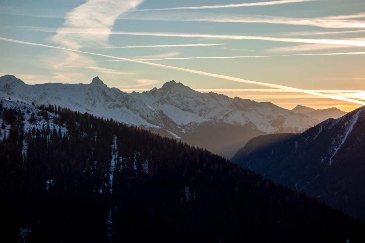 Sonnenuntergang in Davos