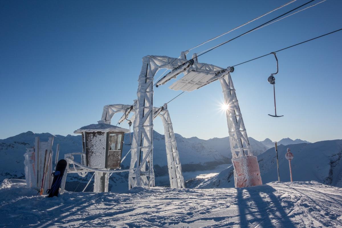 Schlepplift Windegga in Churwalden mit Sonnenstern