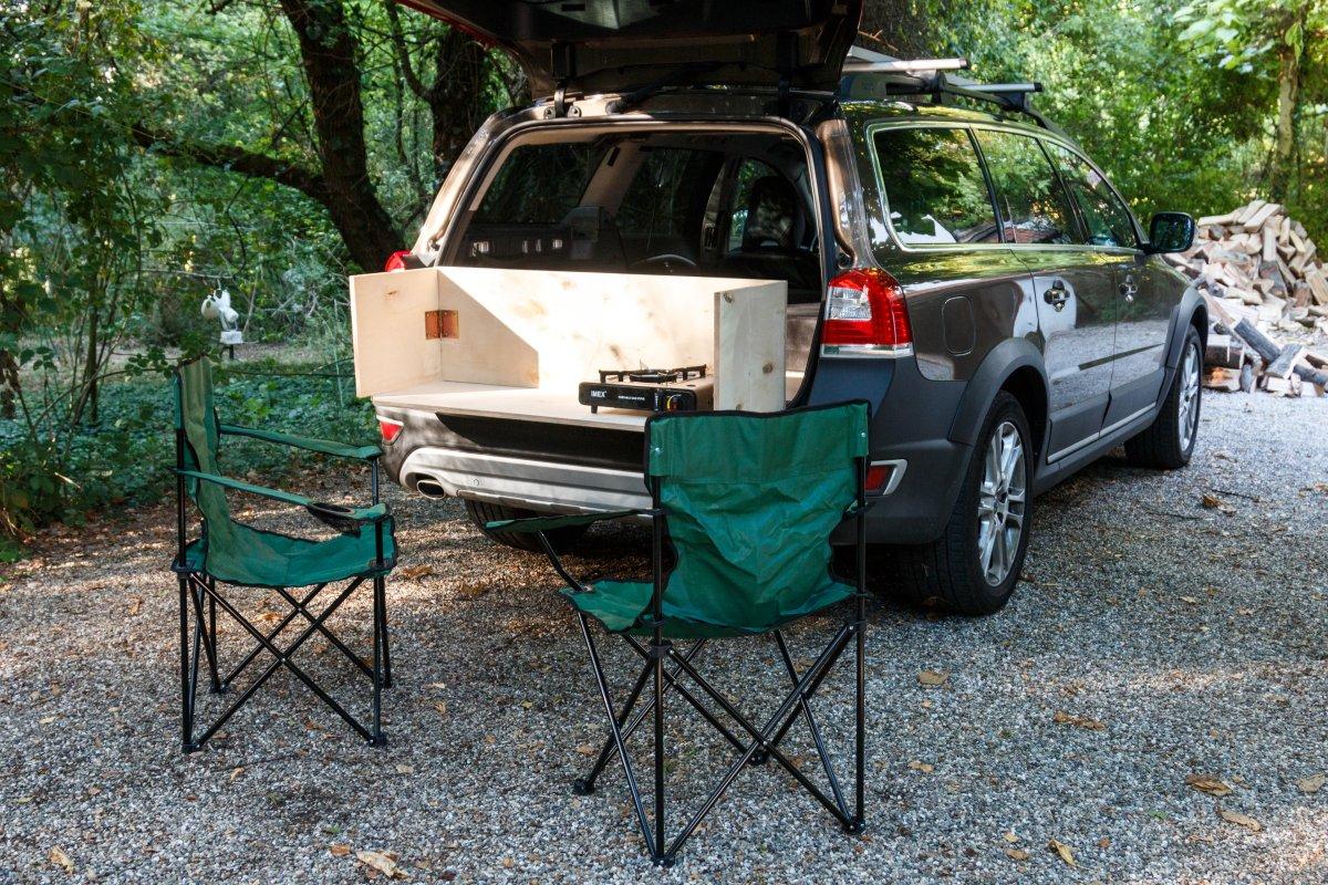 Camping mit Pkw-Kombi