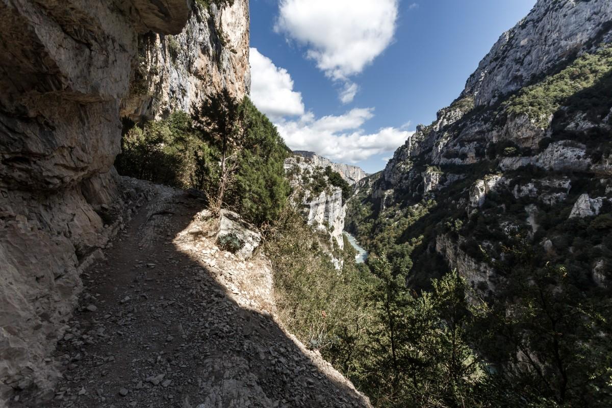 Sentier Blanc-Martel in den Gorges du Verdon