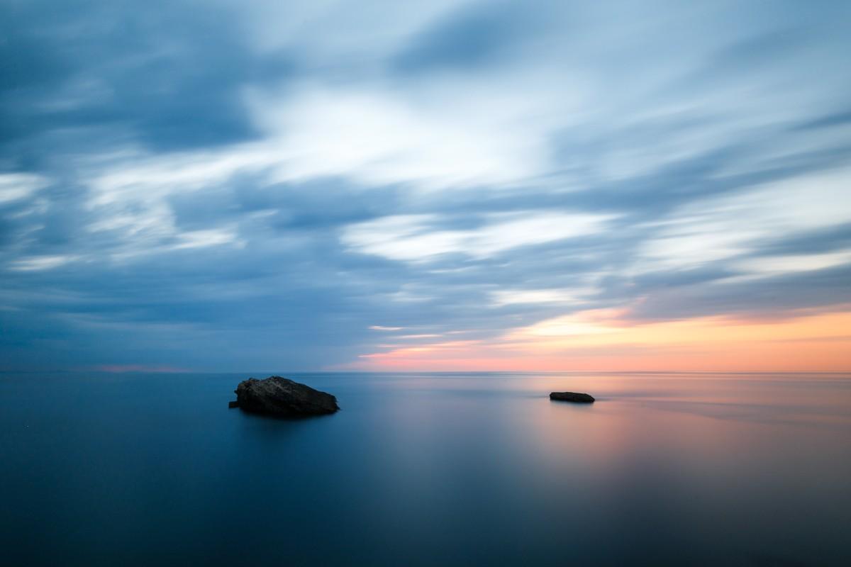 Sonnenuntergang in Biarritz am Atlantik