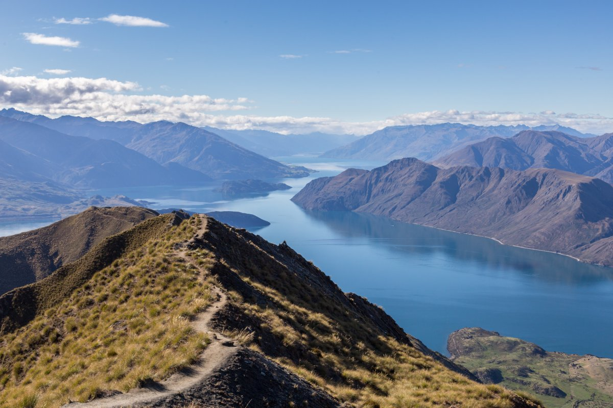 Roy's Peak in Neuseeland mit Lake Wanaka