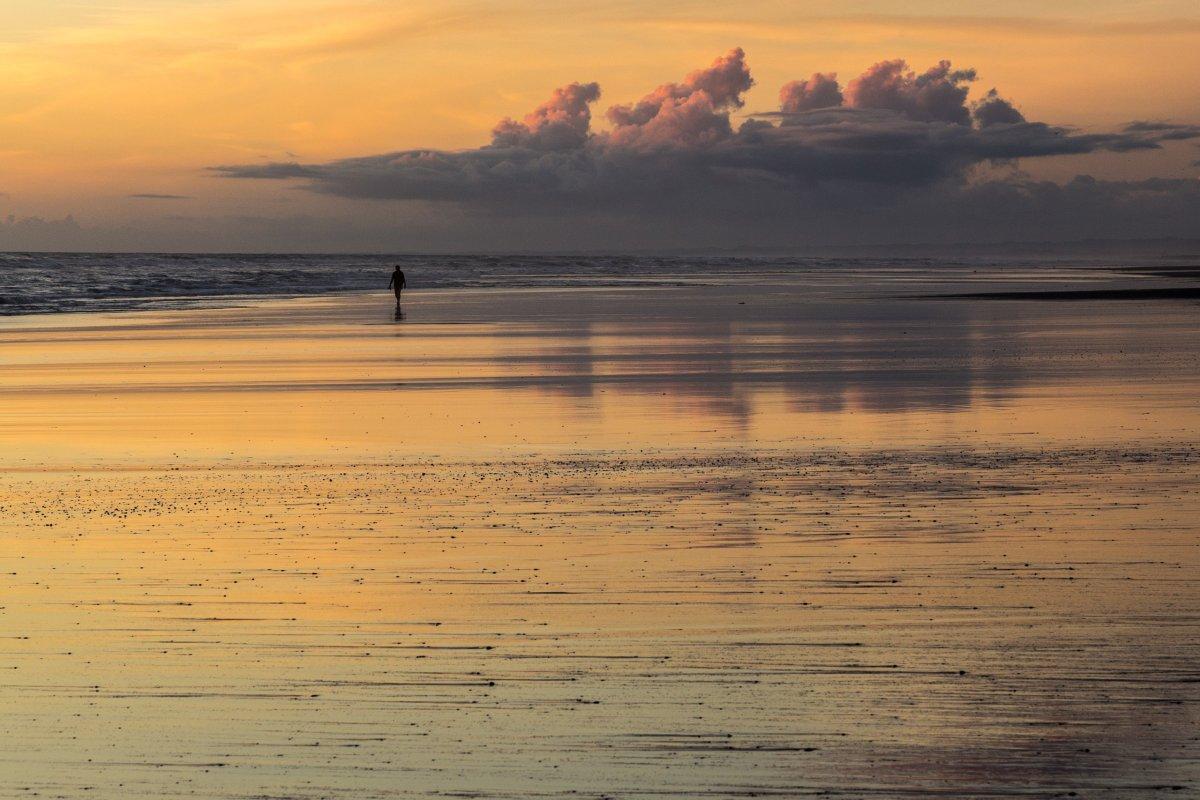 Sonnenuntergang Strand in Neuseeland