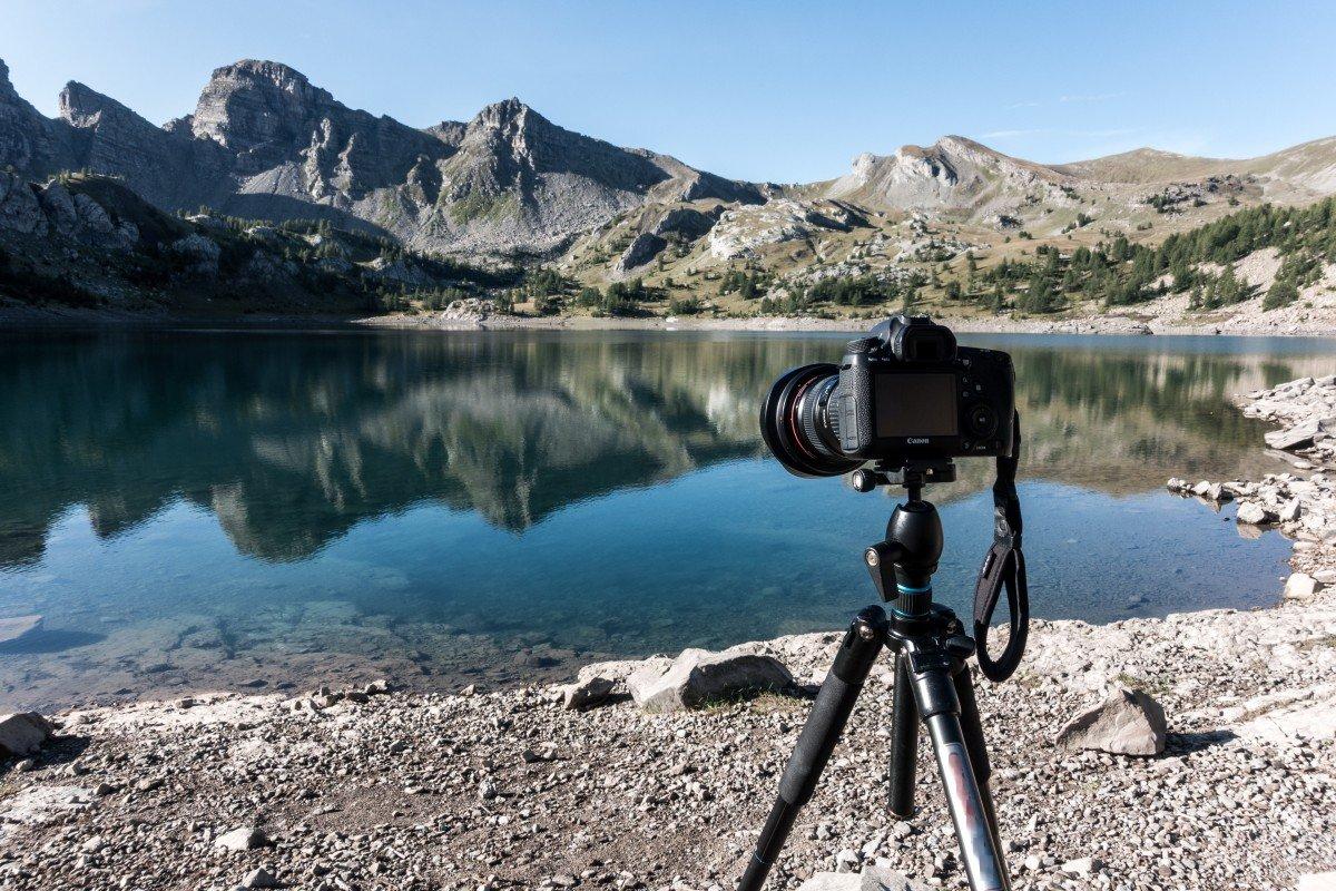 Langzeitbelichtung am Lac d'Allos