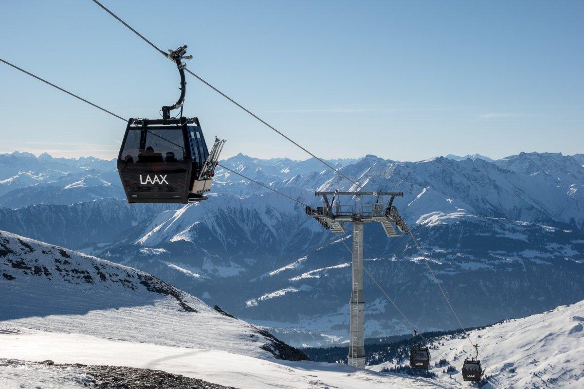 Seilbahn La Siala im Skigebiet Laax