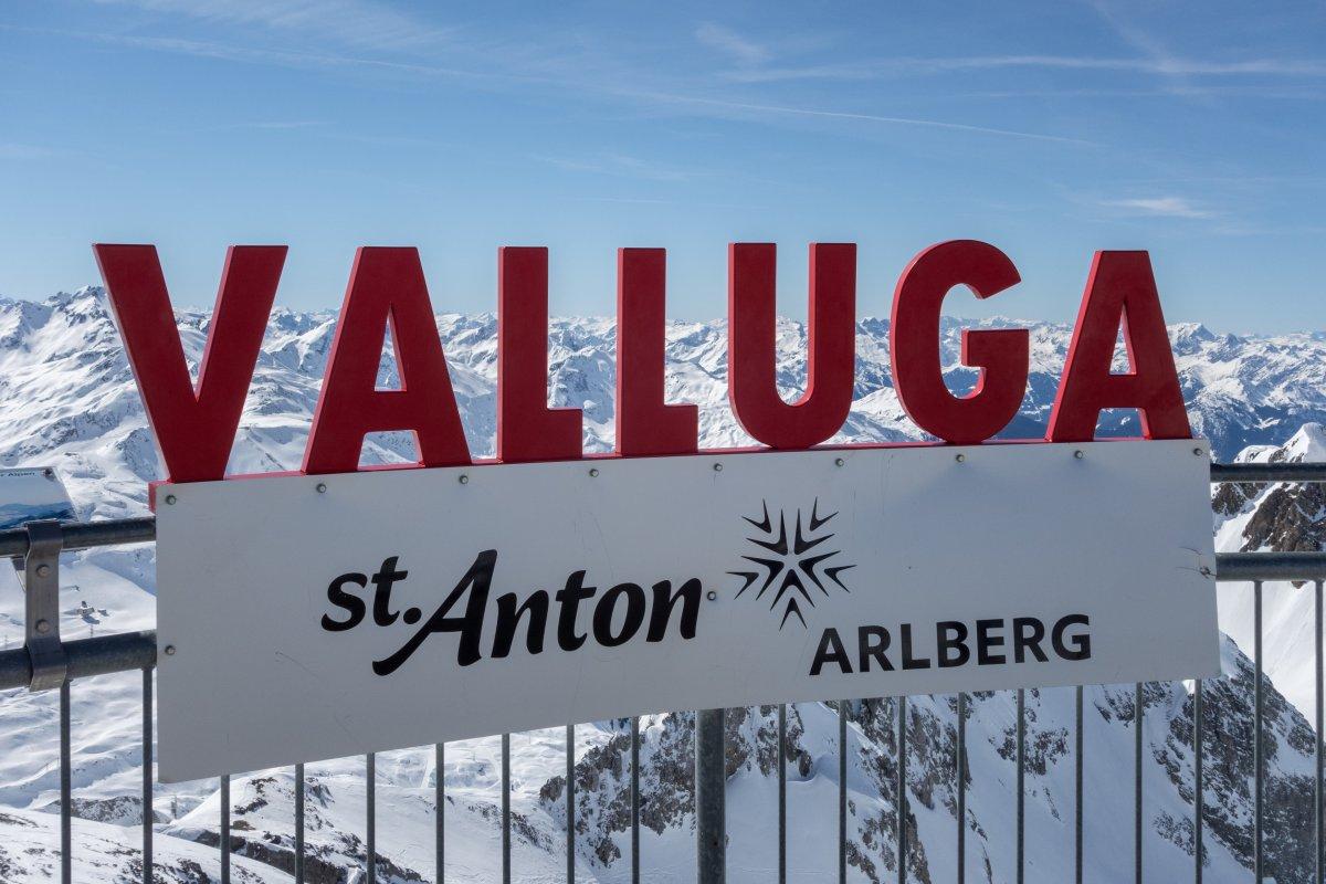 Panorama von der Valluga im Skigebiet St. Anton am Arlberg