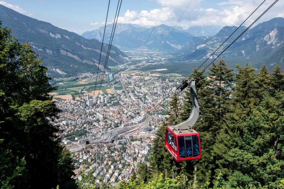 Chur - Brambrüesch • Wandern und Seilbahnnostalgie