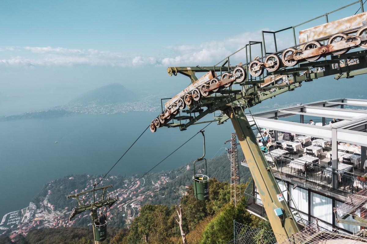 Korblift Laveno - Monte Sasso del Ferro am Lago Maggiore