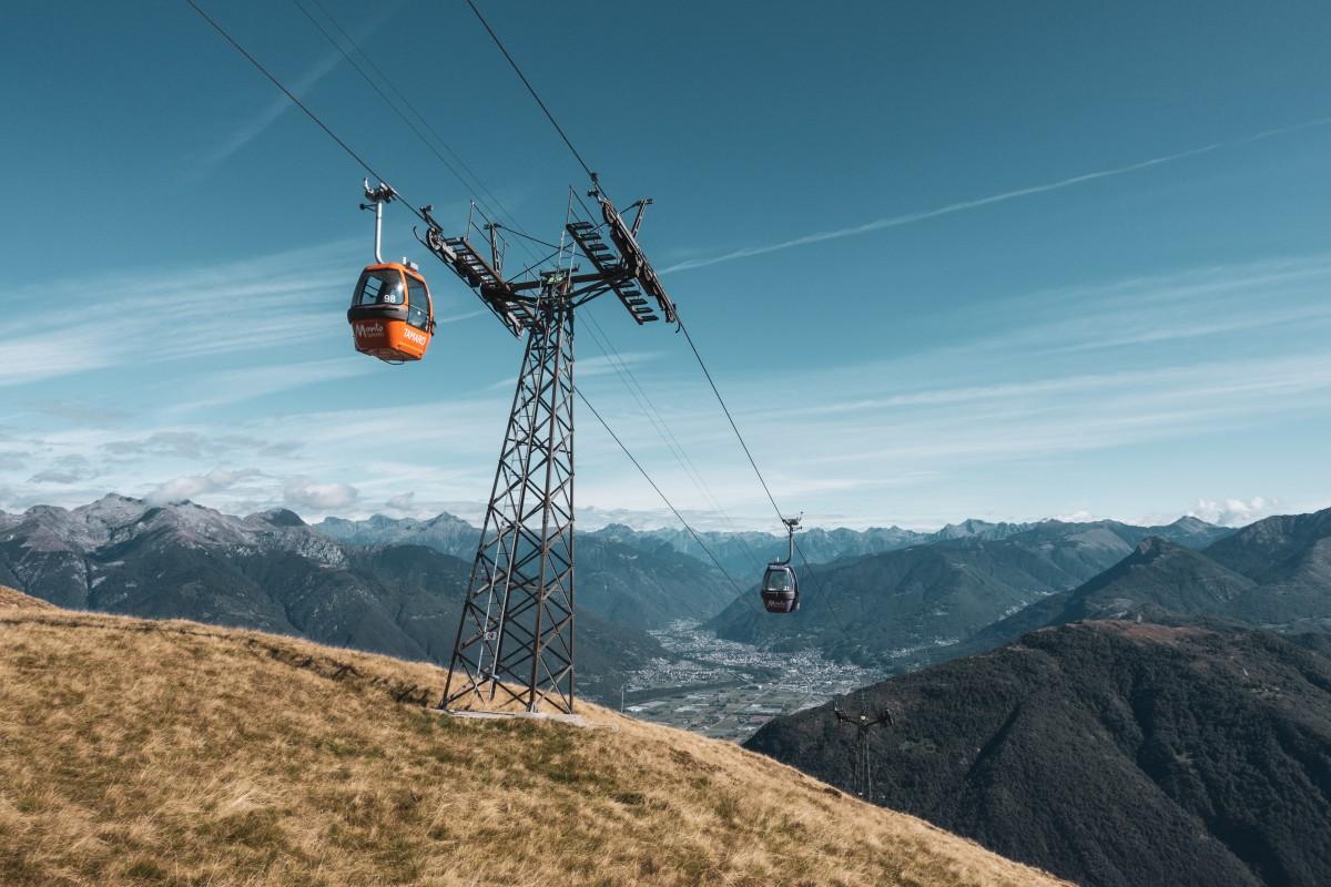 Seilbahn Rivera - Monte Tamaro - Unikat in den Alpen