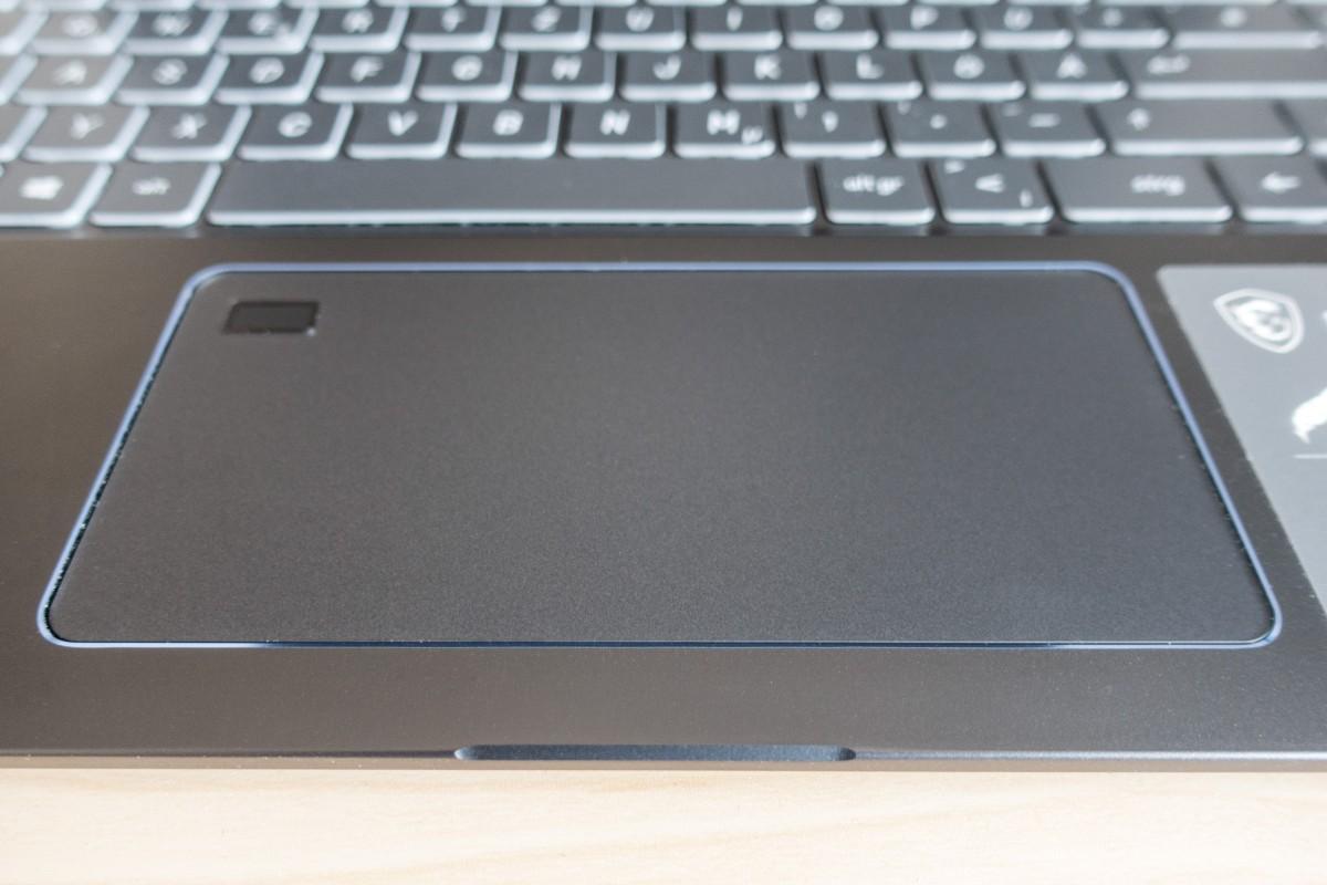 Touchpad mit Fingerabdrucksensor
