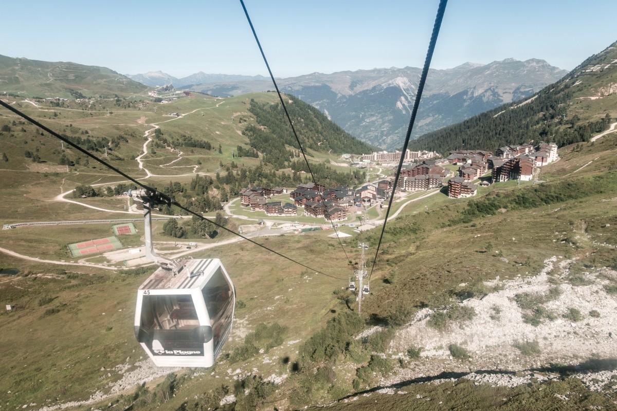 Retortenstation La Plagne in den französischen Alpen