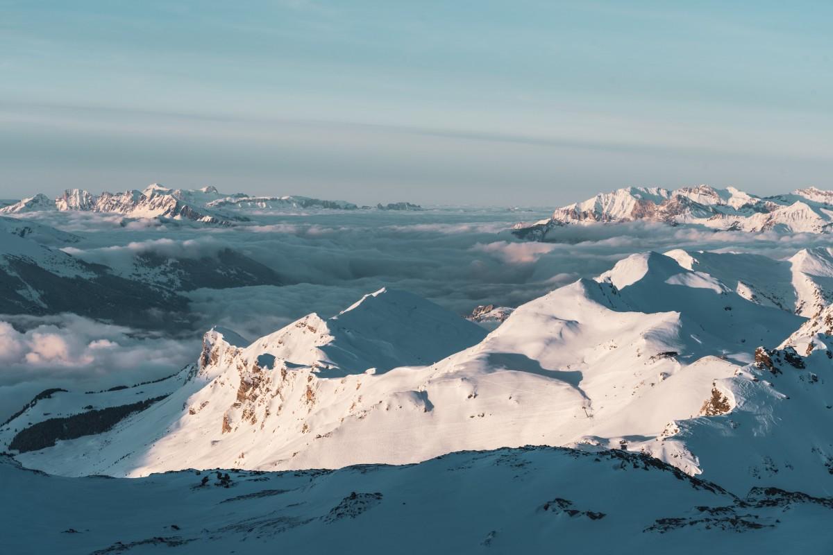 Landschaftserlebnis beim Skifahren