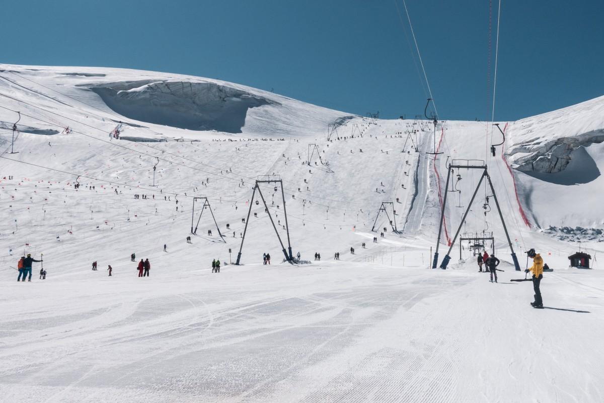 Skifahren während der Corona-Pandemie in Zermatt
