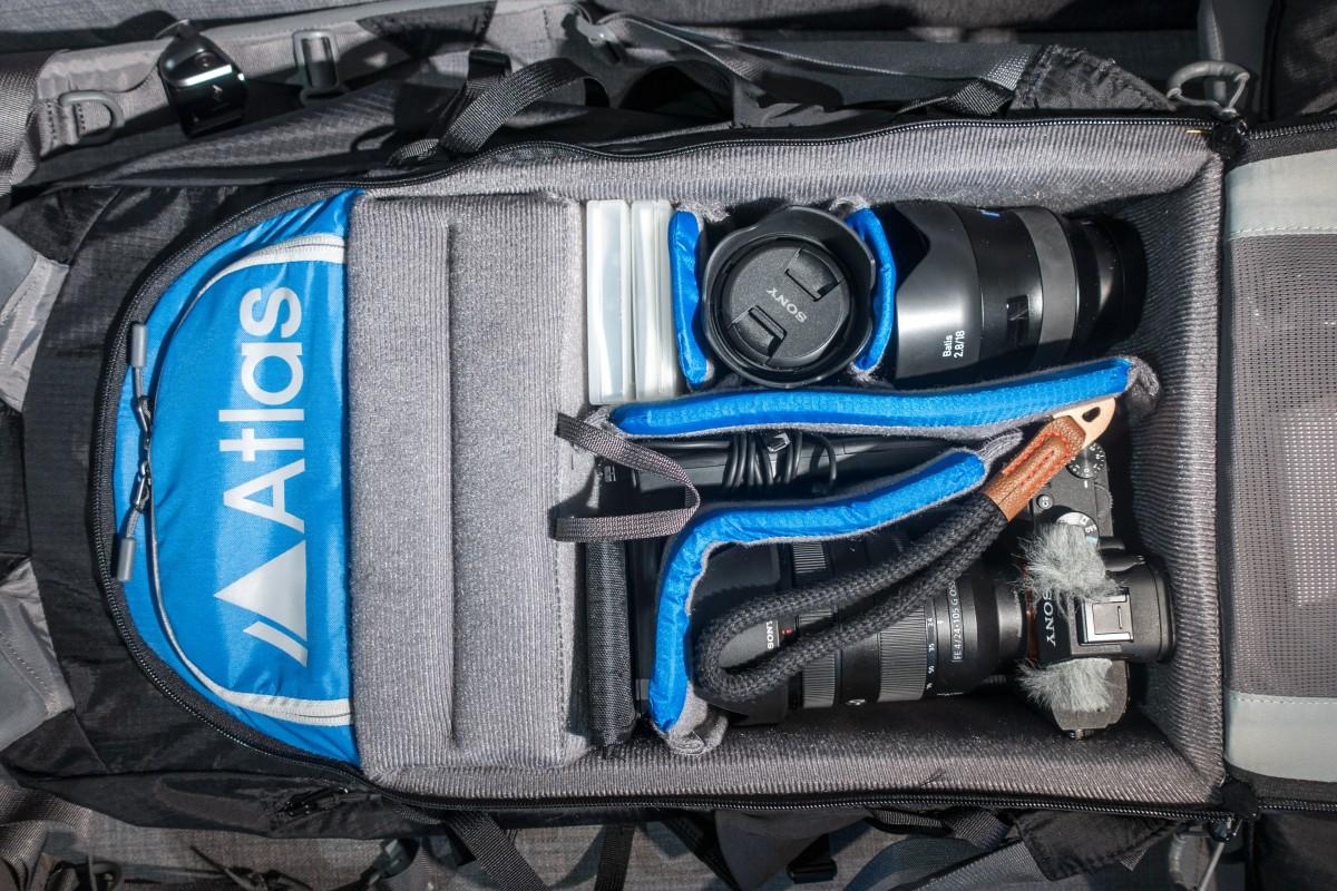 Kamerafach des Atlas Athlete Fotorucksack